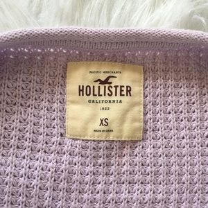 Hollister Sweaters - Hollister Lilac Lavender Open Chunky Knit Sweater